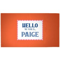 Hello, My Name Is Paige Woven Rug - Medium