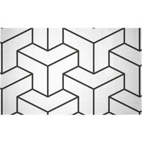 3D Cubes Woven Rug - Small
