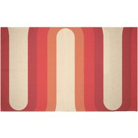 Red Groove Woven Rug - Small