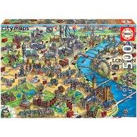 London City Map Jigsaw Puzzle (500 Pieces)