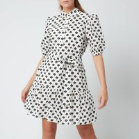 Kate Spade New York Womens Block Floral Shirt Dress - Cream - XS