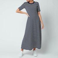 Kate Spade New York Womens Striped Midi Dress - Rich Navy - S