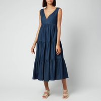 Kate Spade New York Womens Chambray Vineyard Midi Dress - Indigo - UK 10