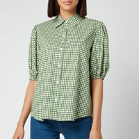 Kate Spade New York Womens Mini Gingham Button Up Shirt - Courtyard - UK 12