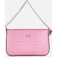 Guess Womens Katey Mini Top Zip Shoulder Bag - Pink