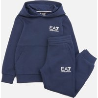 Emporio Armani EA7 Boys' Sporty Core Identity Fleece Tracksuit - Navy - 4 Years