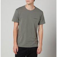 Emporio Armani Loungewear Men's 2-Pack Regular Fit Crewneck T-Shirt - Black - M