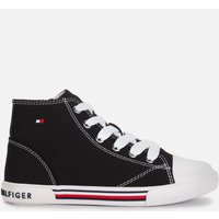 Tommy Hilfiger Unisex High Top Lace-Up Sneaker - Black - UK 1 Kids