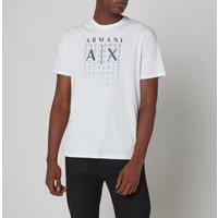 Armani Exchange Men's Gradient Logo T-Shirt - White - XL