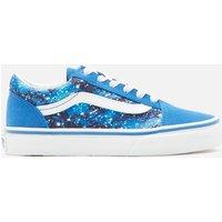 Vans Kids' Old Skool Galactic Glow Trainers - Natutical Blue/True White - UK 1 Kids