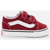 Vans Toddlers' Old Skool V Trainers - Pomergranate/True White - UK 5 Toddler