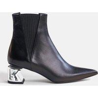 KARL LAGERFELD Women's K-Blok Leather Heeled Chelsea Boots - Black - UK 5