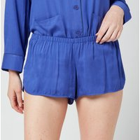 Les Girls Les Boys Women's Plain Viscose Girls Shorts - Blue - S