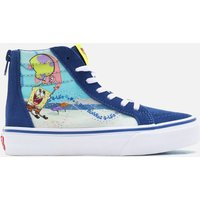 Vans X SpongeBob SquarePants Kids' SK8 -Hi Zip Trainers - Multi - UK 11 Kids