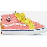 Vans X SpongeBob SquarePants Kids' Toddler SK8-Mid Reissue Velcro Trainers - Multi - UK 9 Kids