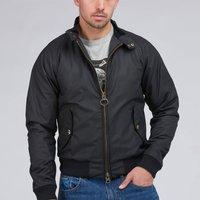 Barbour X Steve McQueen Mens Merchant Wax Jacket - Black - L