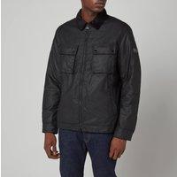 Barbour International Mens Accelerator Baffins Wax Jacket - Black - L