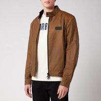 Barbour International Mens Stove Wax Jacket - Sand - L
