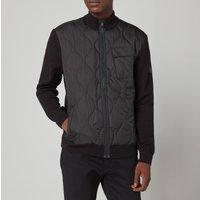 Barbour International Mens Slipstream Quilt Knit Jacket - Black - XL