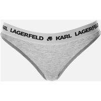 KARL LAGERFELD Women's Logo Brief - Grey - XS