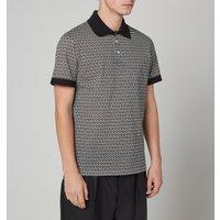 Salvatore Ferragamo Men's Gancini Polo Shirt - Off White/Black - S