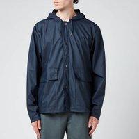 Rains Short Hooded Coat - Blue - M/L