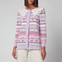 Olivia Rubin Womens Este Longline Cotton Cardigan - Fairisle - S