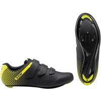 Northwave Core 2 Road Shoes - EU44 - Black/Yellow Fluo
