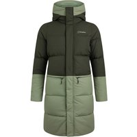 Womens Combust Reflect Long Down Insulated Jacket - Green -