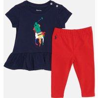 Polo Ralph Lauren Babys Leggings And Top Set - Newport Navy - 3 Months