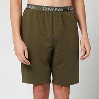 Calvin Klein Men's Sleep Shorts - Army Green - XL