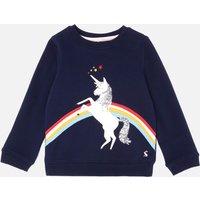 Joules Girls' Mackenzie Unicorn Sweatshirt - Blue - 5 Years