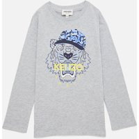 KENZO Boys' Tiger Long Sleeved T-Shirt - Grey Marl - 12 Years