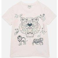 KENZO Girls' Tiger T-Shirt - Pale Pink - 6 Years