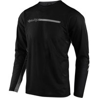 Troy Lee Designs Skyline Air MTB Long Sleeve Jersey - XL - Channel Black