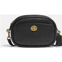 Coach Womens Soft Pebble Leather Camera Bag - Black