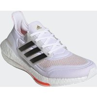 adidas Women's Ultra Boost 21 Running Shoes - Ftwr White/Core Black/Solar Red - US 6.5/UK 5