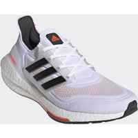 adidas Ultra Boost 21 Running Shoes - Ftwr White/Core Black/Solar Red - US 8/UK 7.5