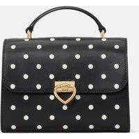 Kate Spade New York Womens Lovitt Dot Printed Leather – Top Handle Bag - Black Multi