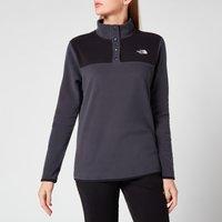 The North Face Women's Glacier Snap-Neck Pullover Sweatshirt - Asphalt Grey/Tnf Black - S