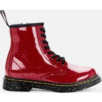 Dr Martens Kids 1460 Patent Lamper Lace Up Boots - Bright Red Cosmic Glitter - UK 1 Kids