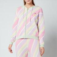 Olivia Rubin Women's Lilian Hooded Jumper - Multi Pastel Stripe - L