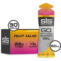 Science in Sport GO Isotonic Energy Gel Box of 30 - 30Softgels - Box - Fruit Salad