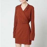 Free People Womens Helena Wrap Dress - Coconut Shell - XS