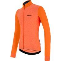 Santini Colore Puro Long Sleve Jersey - XL - Flashy Orange