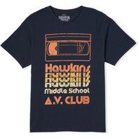 Stranger Things Hawkins AV Club Mens T-Shirt - Navy - M - Navy