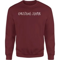 Generic Christmas Jumper  Unisex Sweatshirt - Burgundy - L - Burgundy