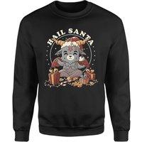 Hail Satan Santa Unisex Sweatshirt - Black - M - Black
