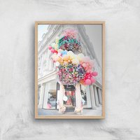 London Colours Giclee Art Print - A3 - Wooden Frame