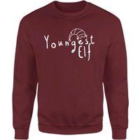 Youngest Elf Sweatshirt - Burgundy - L - Burgundy